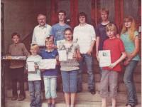 Lukas Kohfeld (von links), Lennart Kress, Lehrer Peter Eggers, Simon Schmidt, Robin Fritsch, Amelie Meyer, Vincent Kulke, Christian Crimm, Christian Rabeneck und Annika Niemann sind talentierte Zahlenjongleure.