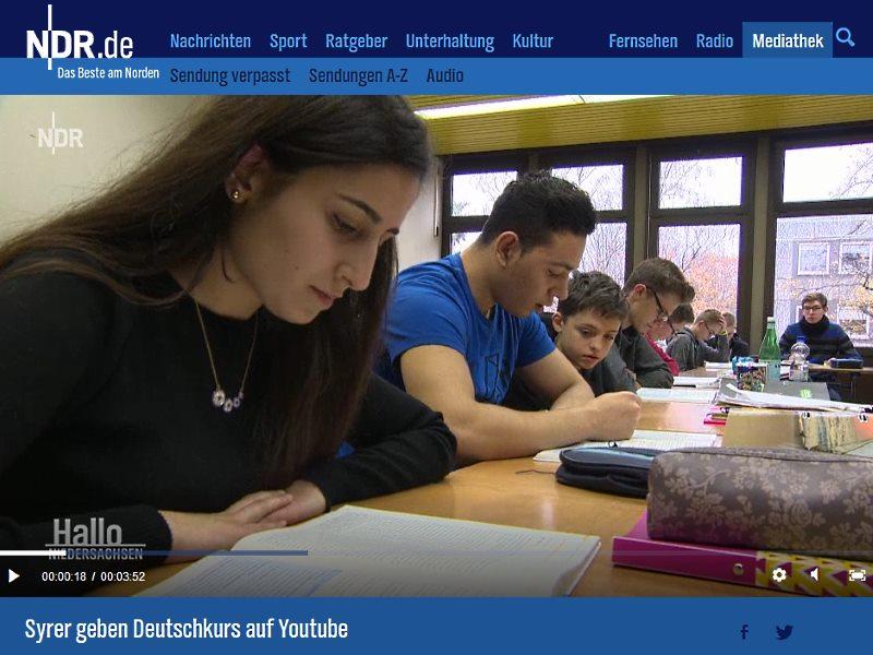Ndr Filmt Ehemalige Sprachlernschüler In Der Klasse 10a Gymnasium